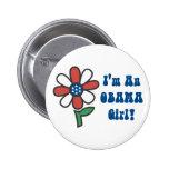 Soy botones de un chica de Obama Pin