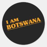 Soy Botswana Pegatina Redonda