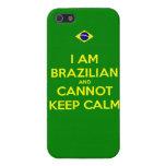 soy brasileño y no puedo guardar calma iPhone 5 cárcasa