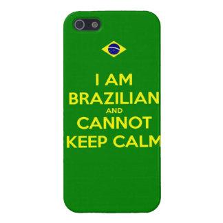 soy brasileño y no puedo guardar calma iPhone 5 carcasas