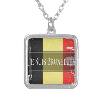 Soy Bruselas (Je Juis Bruselas) Colgante Cuadrado