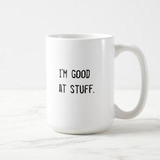 Soy bueno en la materia taza