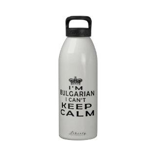 Soy búlgaro yo no puedo guardar calma botella de agua