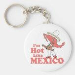 Soy caliente como la camiseta de México Llavero Redondo Tipo Pin