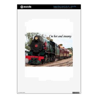 Soy caliente y tórrido: Tren del vapor de Pichi Ri Pegatina Skin Para iPad 3