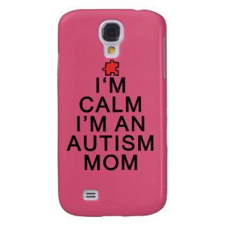 Soy calma que soy una mamá del autismo funda para galaxy s4
