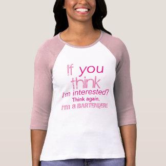 ¡Soy camarero! Camiseta divertida para mujer linda