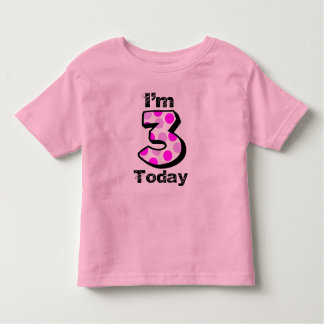 Soy camisa del cumpleaños de 3 hoy chicas