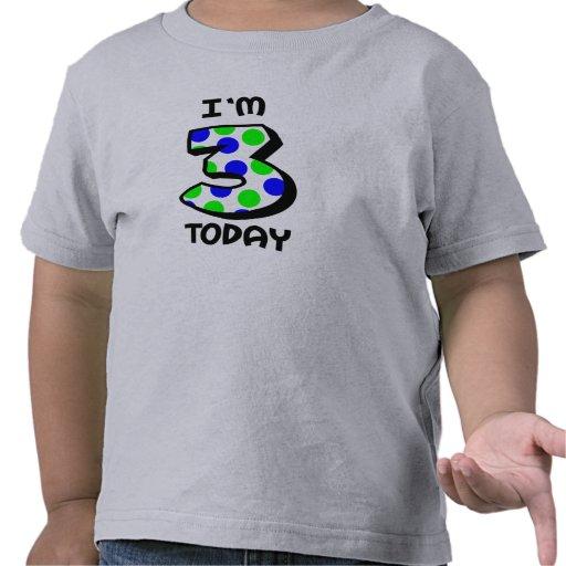 Soy camisa del cumpleaños de 3 hoy muchachos