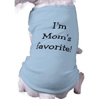 Soy camisa preferida del perro de la mamá playera sin mangas para perro