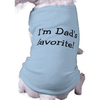 Soy camisa preferida del perro del papá playera sin mangas para perro