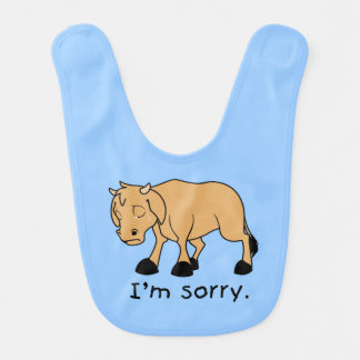 Soy camisa triste gritadora triste de los niños babero de bebé