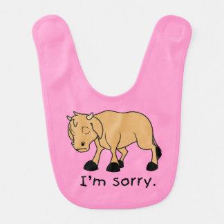 Soy camisa triste gritadora triste de los niños baberos para bebé