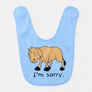 Soy camisa triste gritadora triste de los niños babero para bebé