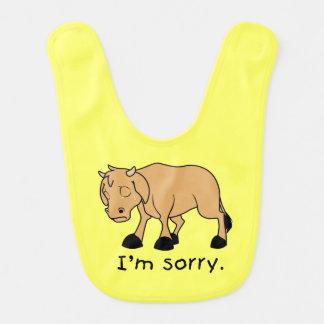 Soy camisa triste gritadora triste de los niños babero