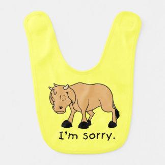 Soy camisa triste gritadora triste de los niños baberos