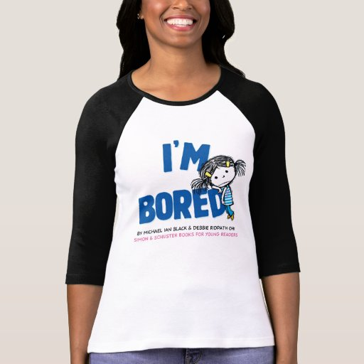 Soy camiseta del raglán de las mujeres ABURRIDAS,