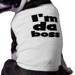 Soy camisetas del perro de DA Boss Camisas De Perritos