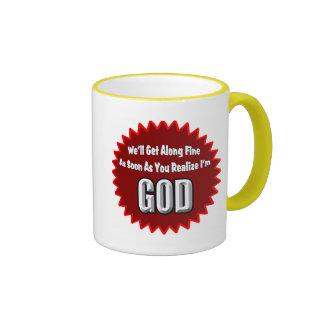 Soy camisetas y regalos de dios taza a dos colores
