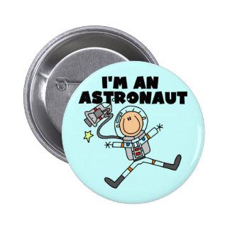 Soy camisetas y regalos de un astronauta pin redondo de 2 pulgadas