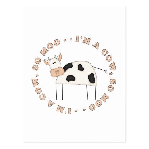 Soy camisetas y regalos de una vaca postales