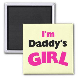 Soy camisetas y regalos del chica del papá imán cuadrado