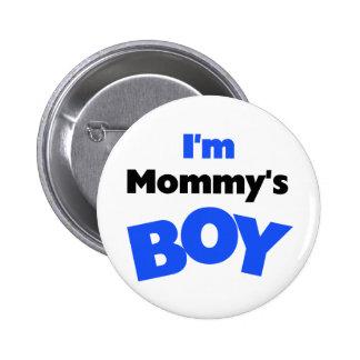 Soy camisetas y regalos del muchacho de la mamá pin redondo 5 cm