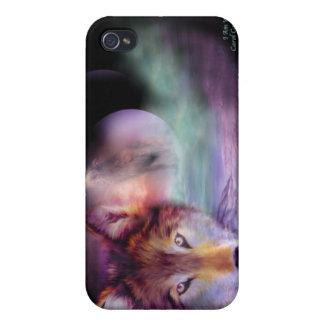 Soy caso del arte del lobo para el iPhone 4 iPhone 4/4S Carcasas