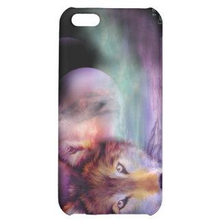 Soy caso del arte del lobo para el iPhone 4