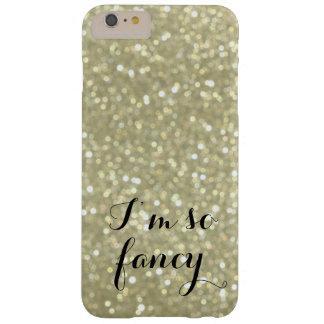 Soy caso más del iPhone 6 tan de lujo del oro Funda De iPhone 6 Plus Barely There
