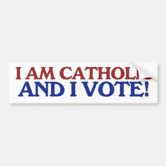 Soy católico y voto etiqueta de parachoque