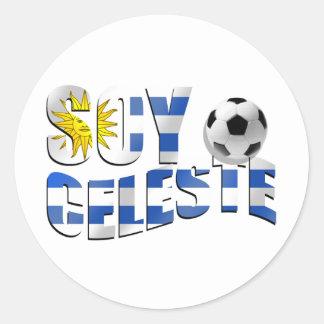 Soy Celeste Uruguay flag Futbol soccer ball logo Sticker