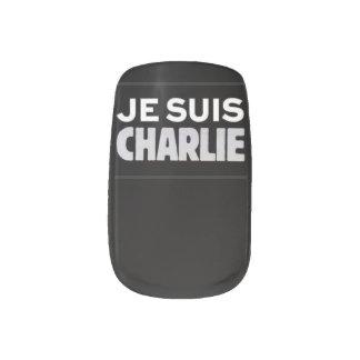 Soy Charlie Faux unas Pegatina Para Manicura