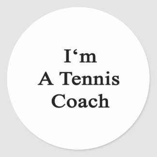 Soy coche de tenis pegatina redonda
