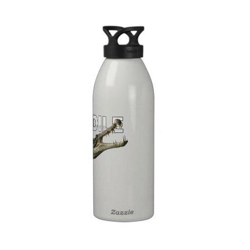 Soy cocodrilo botellas de agua reutilizables