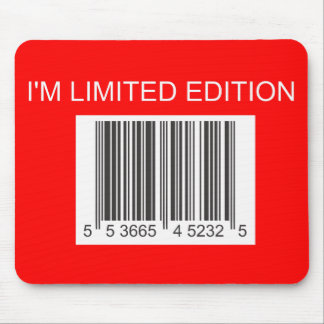 Soy código de barras Mousepad de la edición limita Tapete De Ratón