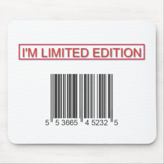 Soy código de barras Mousepad de la edición limita Alfombrilla De Ratón