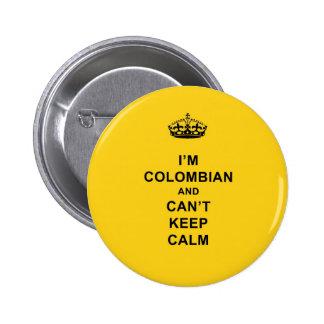Soy colombiano y no puedo guardar calma pin redondo 5 cm