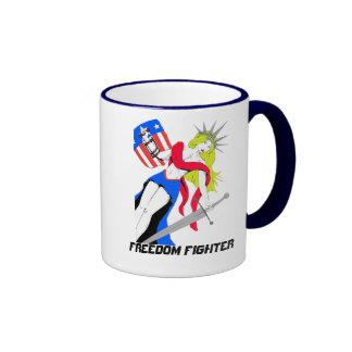 Soy combatiente de la libertad tazas de café