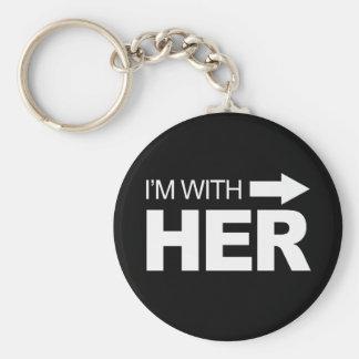 Soy con ella (derecho) - .png llavero redondo tipo pin