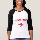 Soy con las señoras estúpidas 3/4 raglán de la camiseta
