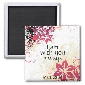 Soy con usted siempre 28:20 de matthew imán cuadrado