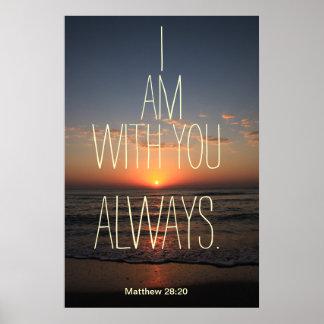 Soy con usted siempre poster del verso de la bibli