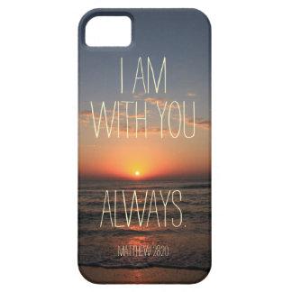 Soy con usted siempre verso de la biblia iPhone 5 funda