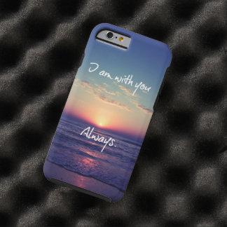 Soy con usted siempre verso de la biblia funda de iPhone 6 tough