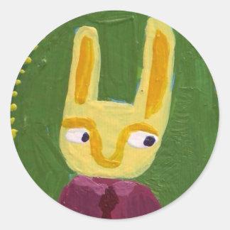 Soy conejo pegatina redonda