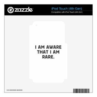 Soy consciente, eso que soy raro skins para iPod touch 4G