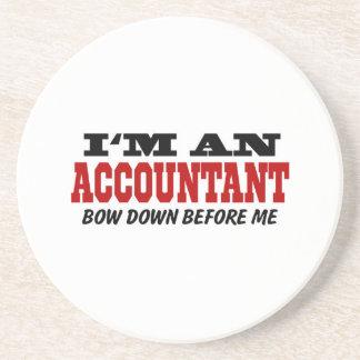 Soy contable arqueo abajo antes de mí posavasos cerveza