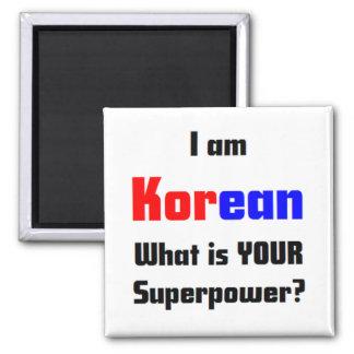 soy coreano imán cuadrado