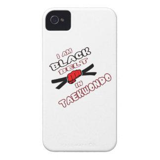 Soy correa negra en el Taekwondo iPhone 4 Carcasa
